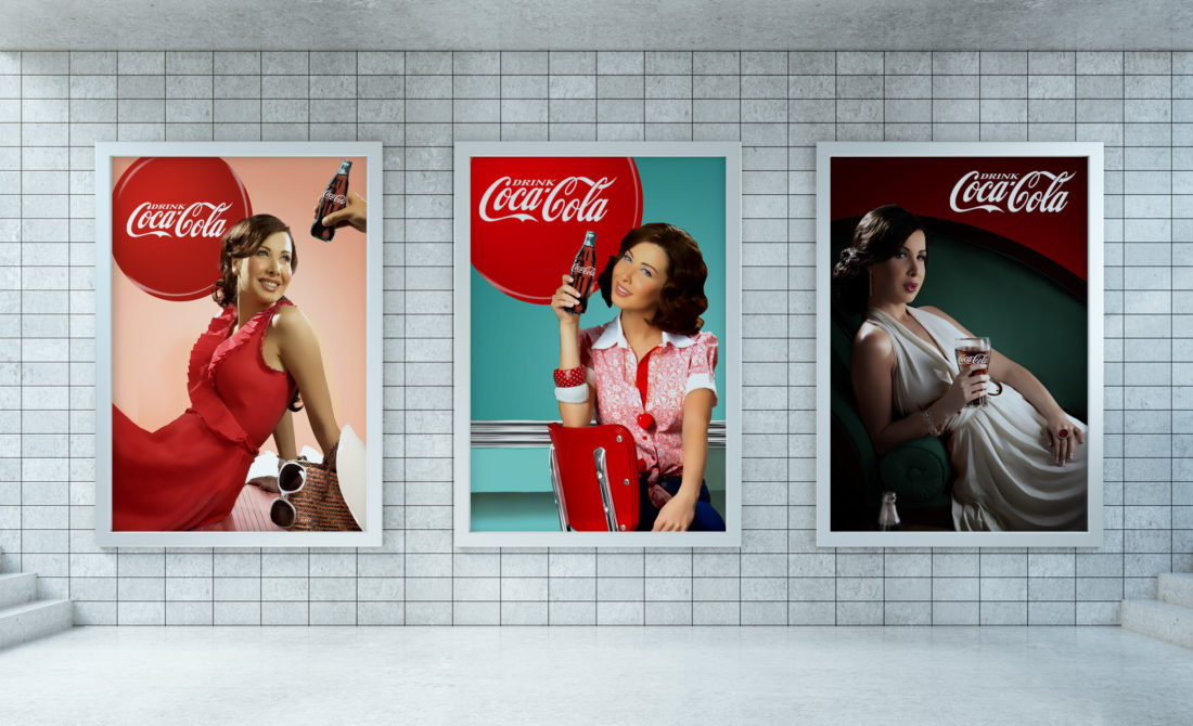 coca-cola-ambassador-nancy-ajram-retro-print-campaign-art-direction