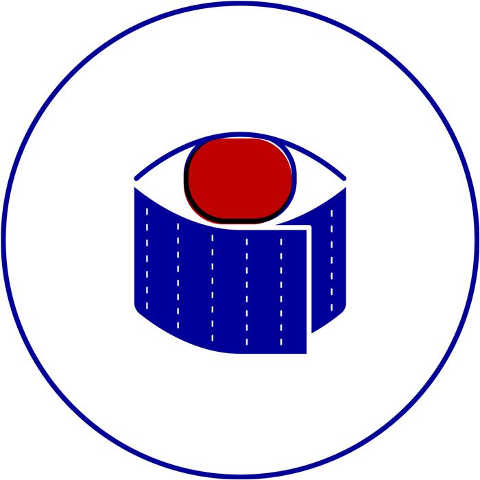 dezakaya identity icon sushi eye roll